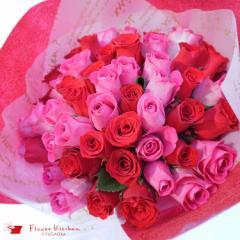 リニューアル 人気商品 バラ50本 の花束ブーケ 生花の花束 15時までの注文で翌日配達