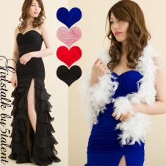 ボリュームの美しい最高のティアードフルデザインドレス!大人ロングドレス 舞台 ハイスリット ストレッチチュールレース 誘惑ロングドレ