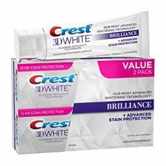 クレスト 歯磨き粉 3D ホワイトブリリアンス メスメライジング ミントフレーバー 116g x 2個 Crest