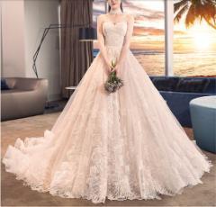 981fb793c8002 レディース ドレス ウェディングドレス プリンセスライン 結婚式 花嫁 ロングドレス 披露宴