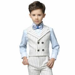キッズスーツ 男の子 子供服 小学生 発表会 リングボーイ 夏 英国風 ベストセットアップ フォーマル