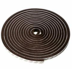 隙間テープ 窓 ドア 隙間風防止 断熱 防風 防音 防水 毛足 長さ5m  幅9mm、毛足9mm ブラウン・ブラック・ホワイト