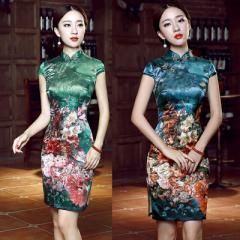 61c228cca16e0  2色 ショート チャイナドレス セクシー レディース ワンピース ドレス コスプレ コスチューム 衣装
