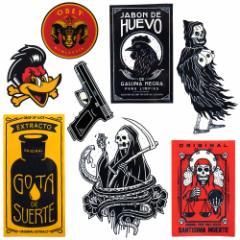 メール便 送料無料 メキシカン ステッカー 9枚セット / シール メキシコ ドクロ スカル タトゥー 刺青 ハードコア