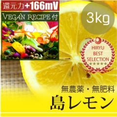 島レモン3kg 自然栽培(無農薬・無肥料) レモンドレッシングレシピ付き! 広島県産・還元力(抗酸化力)+166mV