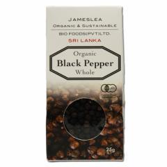 有機JAS認定 オーガニック ブラックペッパー 黒胡椒(粒)25g