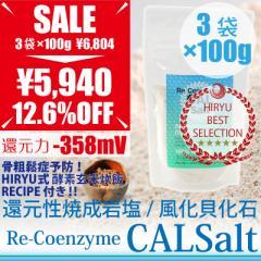 CAL Salt カルソルト 詰替用 3袋×100 g 細粒  ヒマラヤ岩塩 善玉カルシウム 測定検査書付 ヴィーガンレシピ付