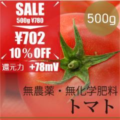今だけ10% OFF トマト500g  無農薬・無化学肥料・沖縄県産 放射性物質検査済・糖度7.7%・ORP+78mV