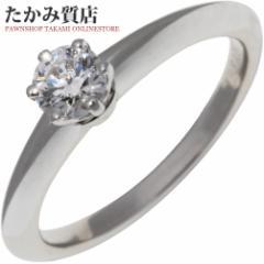 ティファニー Pt950 ダイヤ0.24ct(H-IF-VERYGOOD-NONE) ソリティアリング(ティファニーセッティング) 指輪(リング)