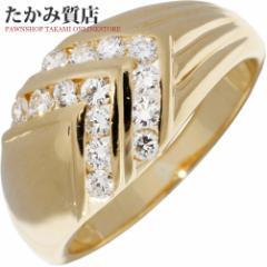 K18YG ダイヤ0.41ct 指輪(リング) 13号