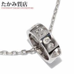 グッチ K18WG ダイヤ8P アイコンアモール ペンダントネックレス