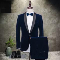 フォーマルスーツ メンズ 2ピーススーツ メンズ タキシード 結婚式スーツ 1ボタン ジャケット+パンツ 演奏会 司会 礼服 大きいサイズ