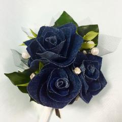 ウェディング ブートニア コサージュ 結婚式 発表会 二次会 国内産 デニム DENIM 全4色
