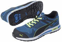 プーマセーフティ ブレイズ ニット ロー ブルー27.0cm PUMA SAFETY Blaze Knit Low 27.0(No.64.236.0-27.0) 【安全靴・作業用靴