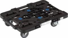 【送料無料!台車が格安特価】TRUSCO ルートバン 370X500 4輪自在 S付 黒 メッシュタイプ MPK500JSBK [414-4465]