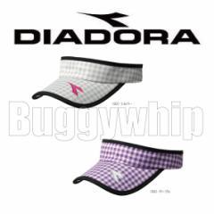 レディース サンバイザー DIADORA ディアドラ テニス シルバー パープル RA6716