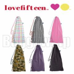 ラブフィフティーン ラケットバッグ(lovefifteen racket bag)「テニス」「TYPE-B」「ストリングタイプ」「ラケット2本収納可」