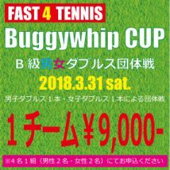 【2018.3.31開催】Buggywhip CUP FAST4 B級男女ダブルス団体戦 エントリー(9:00開始)