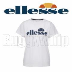 ellesse エレッセ レディース ロゴTシャツ テニス 半袖 ETS1610 ホワイト