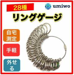 リングゲージ 日本規格28号まで 指輪のサイズ測定 自宅で簡単に計測可能 ネット通販で指輪を買うときに便利