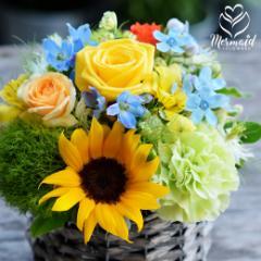 父の日 限定 アレンジも「ア・ラ・モード」花 フラワー ギフト 誕生日 結婚祝い 送別 定年 退職 転勤 お礼 アレンジメント 女性 送料無料