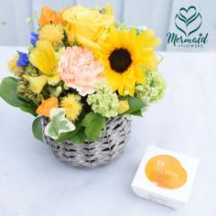 プレゼント 花  お花とゼリーのセット 高級梅 五代庵  送料無料