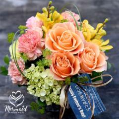 父の日 ギフト プレゼント 父の日 花 ギフト 2019 アレンジ 薔薇 百合 アレンジ 花 プレゼント アレンジ ユリ 薔薇