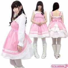 1136E★MB【送料無料・即納】 シャーリングジャンパースカート サイズ:M/BIG 色:ピンク コスチューム コスプレ