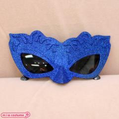 1306C★【送料無料・即納】 B品 ヴェネチアンマスク仮面サングラス単品 色:ブルー