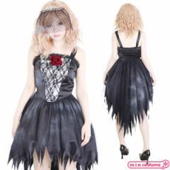 1107D★ML【送料無料・即納】 B品 ブラックウェディングドレス サイズ:M/L  UNST-0711F