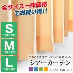 カーテン 2枚組 シアーカーテン 2P 3サイズ〔巾100×丈135cm 100×178 100×200〕 2枚セット レースカー