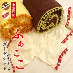 【東京西川】 リバーシブルタイプ 洗える ガーゼケット 〔ふぁここ〕 シングル 西川 ガーゼ タ