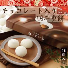 チョコレート入り羽二重餅 16個入 和菓子 福井 銘菓  お土産 スイーツ ギフト