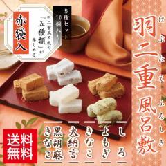 羽二重風呂敷 5種セット 赤袋入り 和菓子 福井 銘菓  お土産 スイーツ ギフト