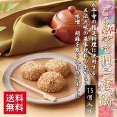 ごまみそ羽二重餅 15個入 和菓子 福井 銘菓  お土産 スイーツ ギフト ゆうパケット送料無料