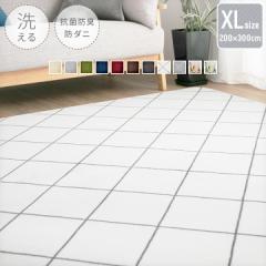 洗える フランネル ラグマット 200×300cm 300×200cm 長方形 超大判 4.5畳 滑り止め付き 床暖房対応 抗菌防臭 防ダニ