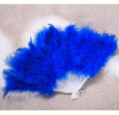 ジュリアナ 扇子■青■ファー■羽■うちわ■バブル■バブリーダンス■送料無料