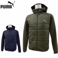 プーマ puma メンズ 中綿ジャケット ハイブリッドジャケット フーディ シンプル ワンポイント 保温 撥水 853611M L LL XL