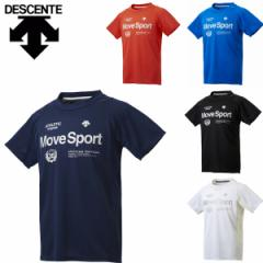 デサント descente ムーブスポーツ MOVE SPORT メンズTシャツ 半袖Tシャツ クールトランスファー クーリング 再帰反射 UVカット DMMLJA54
