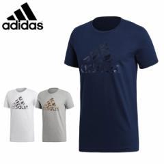 アディダス adidas メンズ半袖Tシャツ コットンTシャツ 綿Tシャツ M BADGE OF SPORTS FOIL 迷彩ロゴT FAQ40【メール便も対応】
