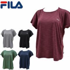 フィラ fila レディース半袖Tシャツ フレンチスリーブ 女性用ワンポイントTシャツ 杢 モク 吸汗速乾 UV FL5760【メール便も対応】