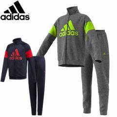 アディダス adidas ジュニア ジャージ上下 トレーニングウエア上下 セットアップ スポーツウエア 子供 キッズ FTN24ネイビー グレー 紺