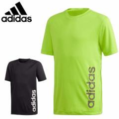 アディダス adidas ジュニア Tシャツ 半袖Tシャツ 吸汗速乾 ロゴTシャツ GER23【メール便も対応】