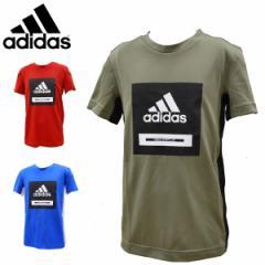 アディダス adidas ジュニア Tシャツ 吸汗速乾 ロゴTシャツ GSV77 FM1699 FK9505 FM1698【メール便も対応】