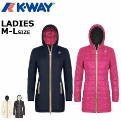ケーウェイ k-way レディースダウンコート リバーシブルレインコート 防水 防風 軽量 タイトフィット 女性  K003X10