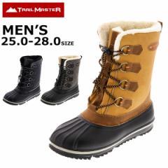 スノトレ スノーブーツ 冬靴 メンズ 25.0 26.0 27.0 28.0 防滑 トレイルマスター trailmaster TR-025