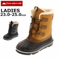 スノトレ スノーブーツ 冬靴 レディース 23.0 24.0 25.0 防滑 雪道対応 トレイルマスター trailmaster アシックス商事 TR-027