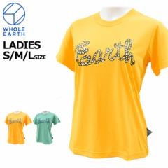 ホールアース wholeearth レディース Tシャツ 半袖 WES17K02-5712 メール便も対応