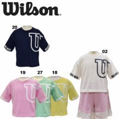 ウイルソン wilson ガールズ 半袖Tシャツ ジュニア ショート丈Tシャツ コットン混紡 優しい肌触り 女の子 WJ6006【メール便も対応】
