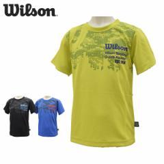 ウイルソン wilson ジュニアTシャツ 子供用半袖Tシャツ メッシュ 吸汗速乾 キッズ ボーイズ 130 140 150 WX5875【メール便も対応】